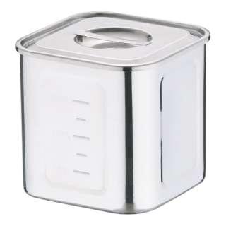 18-8深型角キッチンポット 16.5cm <AKK06016>