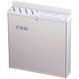 TKG18-8プラ板付カラーナイフラック 大 ABタイプ 白 <AHU671>