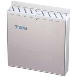 TKG18-8プラ板付カラーナイフラック 大 Aタイプ 白 <AHU691>