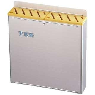 TKG18-8プラ板付カラーナイフラック 大 Aタイプ 黄 <AHU693>