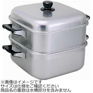 《IH非対応》 アルマイト角型蒸し器 36cm 一重 <AMS71361>
