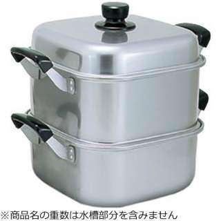 《IH非対応》 アルマイト角型蒸し器 26cm 一重 <AMS71261>