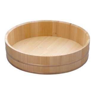 木製銅箍 飯台(サワラ材) 51cm <BHV01051>