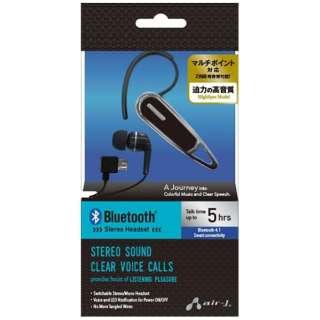 スマートフォン対応[Bluetooth4.1] 片耳ヘッドセット USB充電ケーブル付 (シルバー) BT-A7 SL
