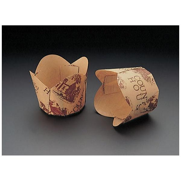 天満紙器 チューリップカップ茶 M-305100枚入 WTY65305