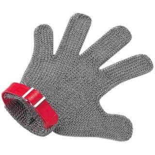 ニロフレックス メッシュ手袋5本指 M M5L-EF 左手用(赤) <STBD803>