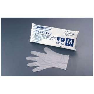ジャパックス ポリエチレン手袋 PGL-02 M(100枚入) <STBF302>