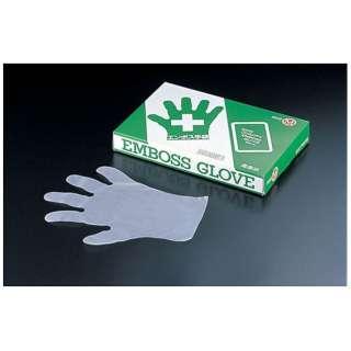 エンボスエコノミー手袋 五本絞り #28 S (1箱200枚入) <STB7801>