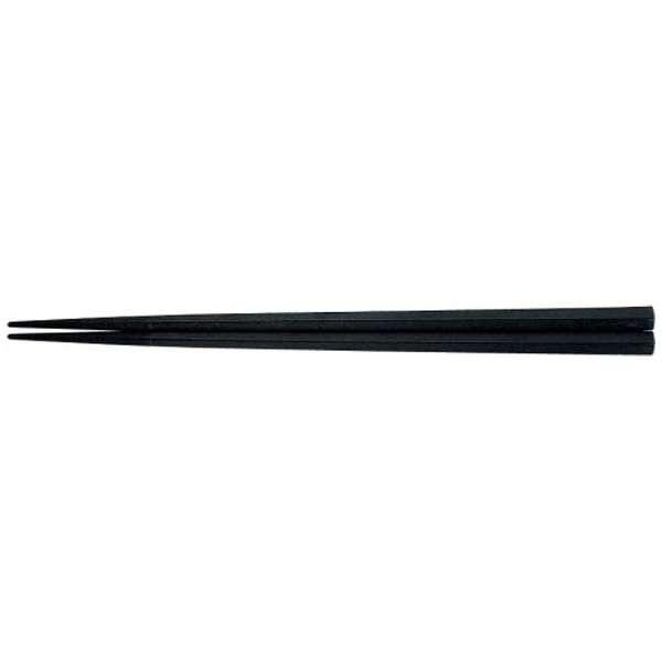 PBT五角箸(10膳入)黒 21cm 90030840 <RHSF601>