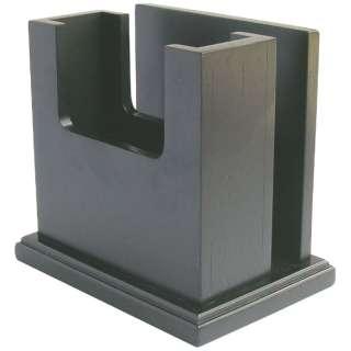 木製 ナフキン&メニュー立 MN-035 黒 <PNHG001>