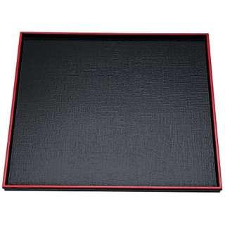 ABS製 えびす角盆 黒天朱SL 尺1寸 17411890 <RBVH703>