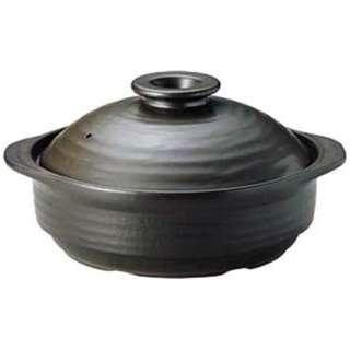 《IH対応》 IH サーマテック土鍋 ブラック 8号 ME087 <QDN104>