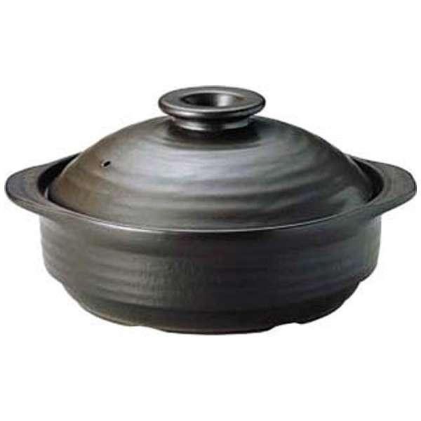 《IH対応》 IH サーマテック土鍋 ブラック 9号 ME097 <QDN105>