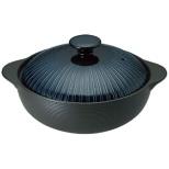 《IH対応》 IH サーマテック 洋風土鍋 ブルー THM21 6.5号 <QDN1904>