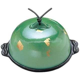 《IH非対応》 アルミ高瀬陶板鍋 金彩・緑 小 13cm <QTU353>