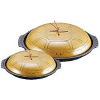 《IH非対応》 アルミ亀甲陶板鍋 小 18cm <QTU17003>