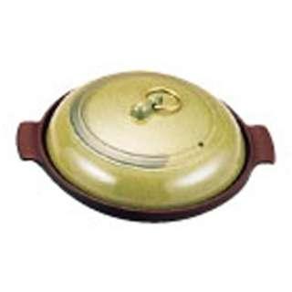 《IH非対応》 アルミ陶板鍋 有磯 18cm 浅型 <QTU13191>