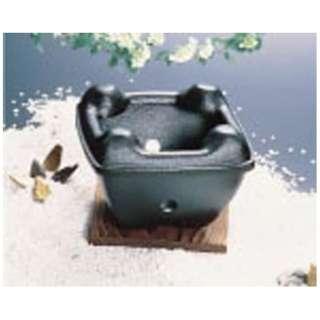 アルミ 陶器風コンロ(固形燃料皿付) <QKV06>