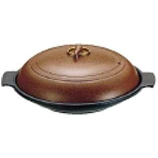 《IH非対応》 SAやまと陶板鍋(アルミ製)18cm 浅型 <QTU07181>