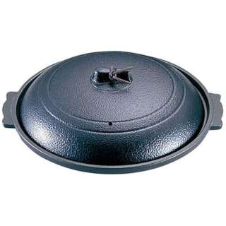 《IH非対応》 アルミ丸陶板 黒 M10-588 <QTU421>