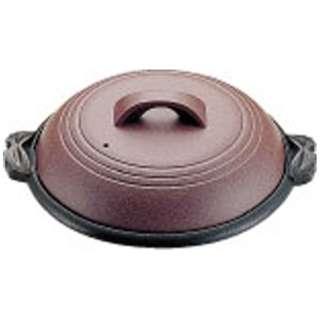 《IH非対応》 アルミ陶板鍋素焼き茶 大関 30cm M10-542 <QTU18542>