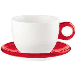 ラージコーヒーカップ 2客セット 2775.0065 レッド <RGTS404>