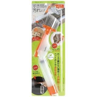 ペットボトル使用加圧掃除ブラシ 汚れスッキリ ジェット水圧ブラシ オレンジ