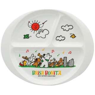 メラミンお子様食器「ブリサボニータ」 小判ランチプレート <RBL6401>