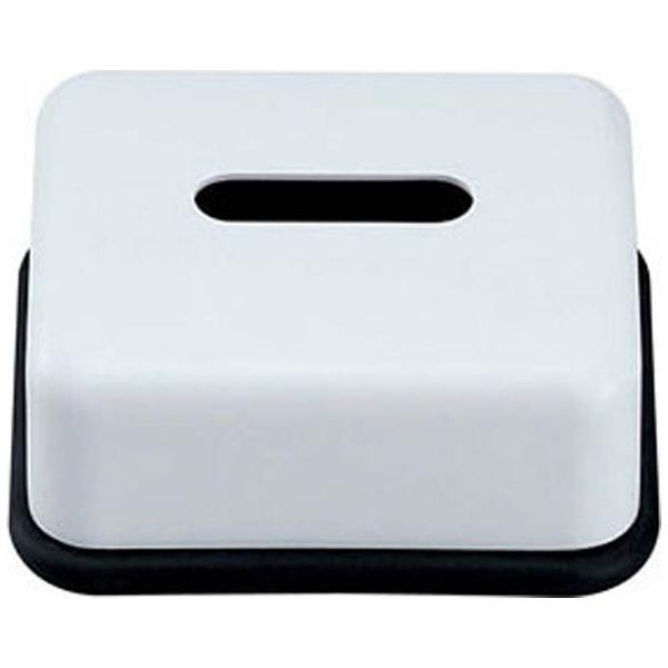 スリーライン メラミン ハーフティッシュボックス 黒底 HW-1405 VTI1901