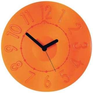 グッチーニ ウォールクロック 0499.0045 オレンジ <RGTE602>