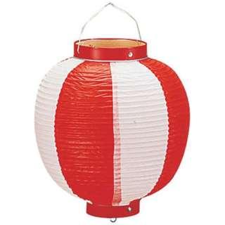 ビニール提灯丸型 《9号》 赤/白 b40 <YTY0293P>
