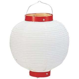 ビニール提灯丸型 《6号》 白ベタ <YTY0261M>
