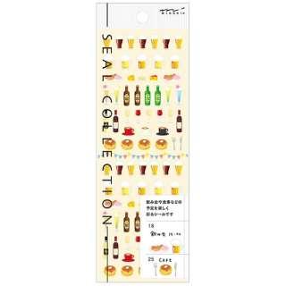 手帳用シール2198 MIDORI 飲み会とカフェ柄 82198006 [1シート]