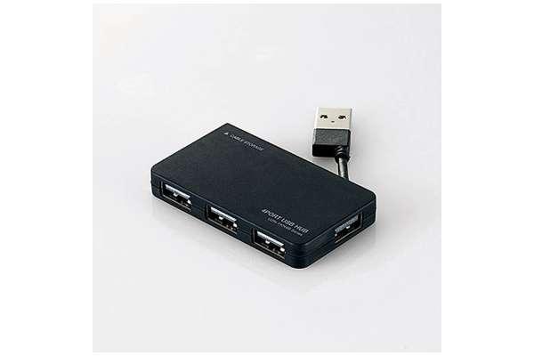 USBハブのおすすめ20選 エレコム U2H-YKN4B(4ポート/バスパワー)