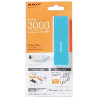 DE-M04L-3015 モバイルバッテリー ブルー [3000mAh /1ポート /microUSB /充電タイプ]