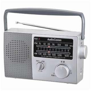 RAD-F777Z ホームラジオ AudioComm シルバー [AM/FM /ワイドFM対応]
