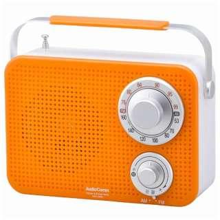 RAD-T380N ホームラジオ AudioComm オレンジ [防滴ラジオ /AM/FM /ワイドFM対応]