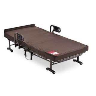 【折りたたみベッド】収納式電動リクライニングベッド (Wファンクション) ・1モーター AX-BE634N(シングルサイズ)