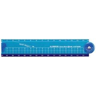[定規] 折りたたみアルミ定規 (最長30cm) ブルー XS31BL