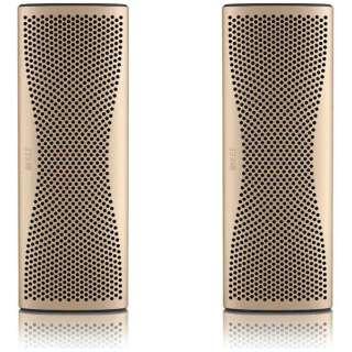MUO GOLDStereoPack ブルートゥース スピーカー ホライゾンゴールド [Bluetooth対応]
