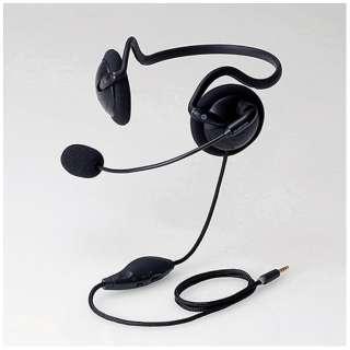 イヤホン 耳掛け型 ブラック HS-VRNB01 [リモコン・マイク対応 /ネックバンド /φ3.5mm ミニプラグ]