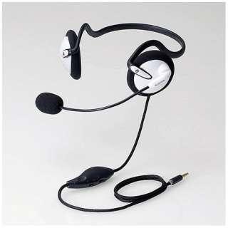 イヤホン 耳掛け型 ホワイト HS-VRNB01 [リモコン・マイク対応 /ネックバンド /φ3.5mm ミニプラグ]