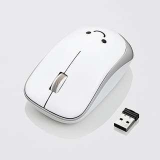 M-IR07DRWH マウス M-IR07DRシリーズ ホワイト [IR LED /3ボタン /USB /無線(ワイヤレス)]
