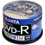 D-R16X47G.PW50SP B データ用DVD-R [50枚 /4.7GB /インクジェットプリンター対応]