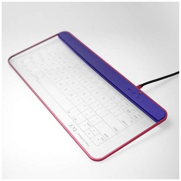 【スマホ/タブレット対応】キーボード[Android/iOS/Win] Q-gadget KB02 (ネイビー・アンド・レッド) KB02/NR [Bluetooth・USB /有線・ワイヤレス]
