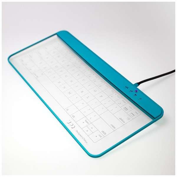 【スマホ/タブレット対応】キーボード[Android/iOS/Win] Q-gadget KB02 (ブルー・バイ・グリーン) KB02/BG [有線・ワイヤレス /Bluetooth・USB]