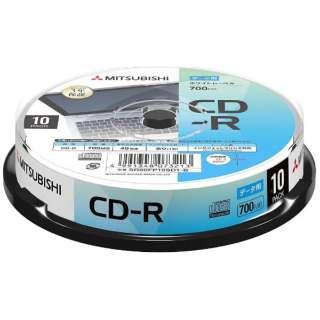 データ用CD-R 700MB 10枚【スピンドル / インクジェットプリンタ対応】 SR80FP10SD1-B