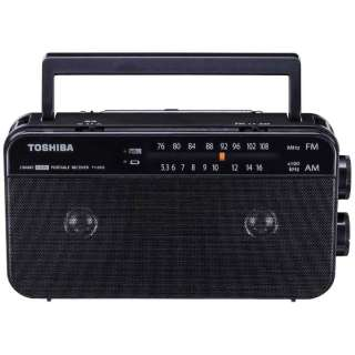 ホームラジオ ブラック TY-AR55 [ワイドFM対応 /AM/FM]