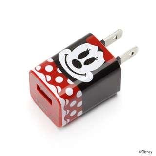 スマホ用USB充電コンセントアダプタ ディズニー PG-DAC104MNE ミニーマウス