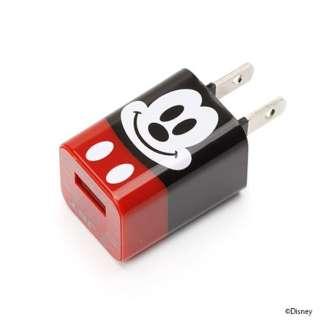 スマホ用USB充電コンセントアダプタ ディズニー PG-DAC103MKY ミッキーマウス